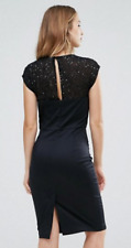 French Connection Jewel Capped Sleeve Fitted Dress Size 14 rrp £120 LS079 DD 16