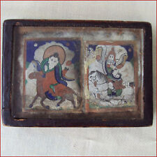 TSAKLI THANKA PAINTINGS MONGOLIA 19THC  BUDDHA ON HORSE GESAR OF LING TIBET