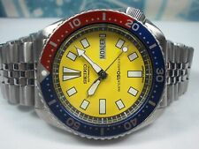 SEIKO 150M DAY/DATE DIVERS AUTO MENS WATCH 6309-729A, YELLOW/PEPSI (SN 480233)