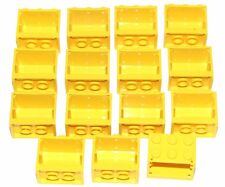LEGO LOT OF 15 YELLOW 2 X 3 X 2 CONTAINERS CUPBOARDS PIECES PARTS