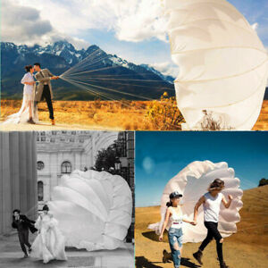 White Round Diameter 5.5m/18Ft, 7m/23Ft Parachute for Wedding Photography