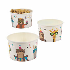Party Animal Snack Paper Bowls - Party Supplies - 25 Pieces
