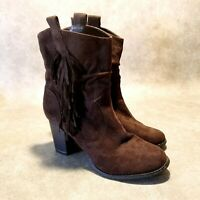 "Wanted Womens Memphis Sz 8 M Brown 3"" Heeled Cowboy Boots"