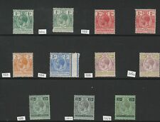BRITISH HONDURAS GV 1913-1933 MINT COLLECTION 4 PAGES CAT£160+