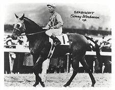 SEABISCUIT 8X10 PHOTO HORSE RACING PICTURE JOCKEY SONNY WORKMAN