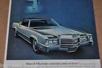 1970 CADILLAC ELDORADO advertisement page, silver 2-door Eldorado Caddy