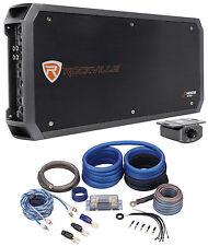 Rockville RXD-M5 Competition 8000 Watt/4000w RMS Mono 1Ohm Car Amplifier+Amp Kit