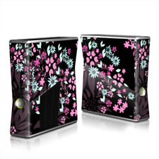 Xbox 360 S Console Skin - Dark Flowers by Kate Knight - DecalGirl Decal