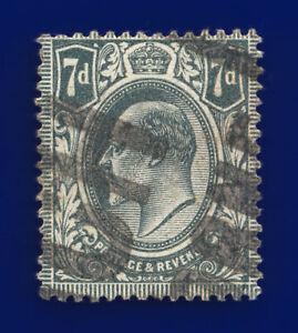 1910 SG249 7d Grey-Black M37(1) Good Used Cat £22 cutw