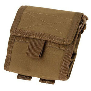 Condor Tactical Roll Up Modular Dump Pouch - Coyote - MA36-498 - MOLLE PALS