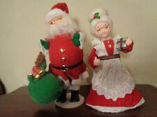 San Francisco Music Box Santa & Mrs Santa Musical Move Head