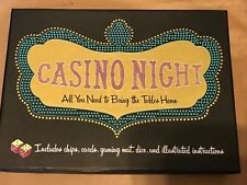 Casino Night Chronicle Books HTF 2006 NEW Blackjack Poker Texas Hold'em Baccarat