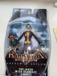 DC DIRECT BATMAN ARKHAM ASYLUM SERIES 1 The Joker with Scarface ACTION FIGURE!