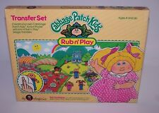 Cabbage Patch Kids Rub n Play Colorforms 1983 Sealed