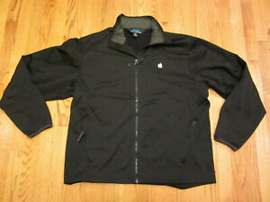 APPLE FLEECE JACKET XL Black XCode Swift Developer OSX iPod Full Zip Extra Large