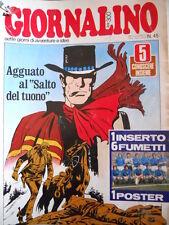 Giornalino n°45 1977  Poster Nazionale Italia 1977 + inserto  [G318]