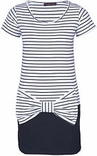 STRIPED BOW Sailor Kleid - Weiß / Schwarz Rockabilly Emo