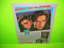 Bally SPY HUNTER 1984 Original NOS Flipper Game Pinball Machine Promo Flyer