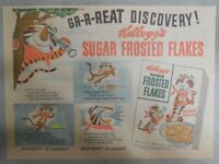 Kellogg's Cereal Ad: Tony The Tiger Great Discovery 1950's Size: 11 x 15 inches