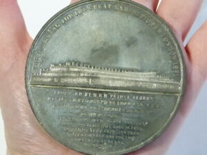 1851 Exhibition Prince Albert by Ottley White Metal Medal 73mm VERY NICE #T2241