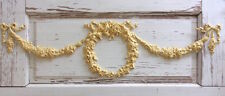Furniture Appliques * Wreath w/ Swags & Bows * Flexible * Paintable * Stainable