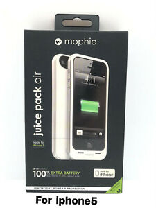 mophie Battery Case for iPhone 5/5s/5se (1,700mAh) - White
