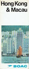 BOAC brochure Hong Kong Macau Airline Airport Kowloon chinese Festivals 1972