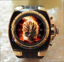 The Fireball Ghost Skull Rider Commando Army Style Chunky Gift Wrist Watch