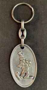 Vintage 1990s Walt Disney's Goofy Metal Keychain