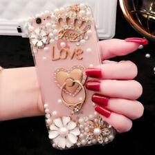 Fashion Rhinestone Diamond Bling Girly Back Phone Case Cover For iPhone/Samsung
