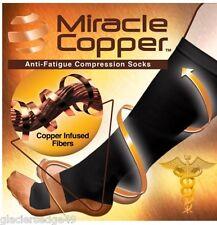 """NEW"" Miracle Copper Socks Anti Fatigue Compression Socks UNISEX S/M Size"