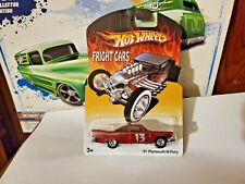 HOT WHEELS REAL RIDERS FRIGHT CARS  '67 PLYMOUTH FURY  RED