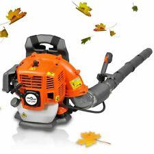 vidaXL 141245 42.7cc 1.2L Petrol Backpack Leaf Blower - Black and orange