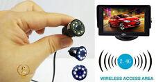 Wireless 4.3 inch Lcd monitor + mini Spy Bulb 8 led Night vision hidden camera
