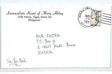PHILIPPINES Cover 1991 *Vigan Ilocos* Missionary Air Mail MIVA FLOWERS CM97