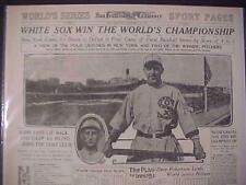 VINTAGE NEWSPAPER HEADLINE ~WHITE SOX BEAT NY GIANTS BASEBALL WORLD SERIES 1917