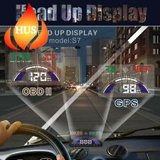 5.8 Pulgadas Coche HUD Head Up Visualización Velocímetro Con Intercambiable OBD y GPS..