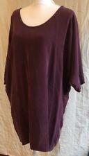 NWT Aritzia Babaton Wyatt Dress in Cardamom 100% Silk Purple Cocoon M $225