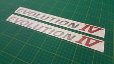 Evolution IV 4 decal stickers graphics restoration replacement Mitsubishi Lancer
