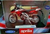 Moto Aprilia RXV 450 Enduro Nera e Rossa - Scala 1:18 Die Cast - Welly - Nuovo