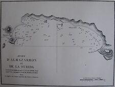ANSES D'ALMAZARRON ET DE LA SUBIDA ,1862, PLANS PORTS RADES MER MEDITERRANEE