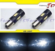 LED Light 1156 6W White 5000K Two Bulbs Rear Turn Signal Replacement Upgrade JDM