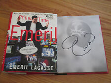 Celebrity Chef EMERIL LAGASSE signed PRIME TIME 2001 1st Book COA