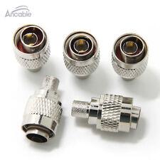N Type N Male Plug Crimp RF Coaxial Connector for LMR400 RG8 RG213 RG214 5-Pack