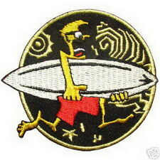 Surfing Surf Sufboard Rockabily Embroided Iron on Patch