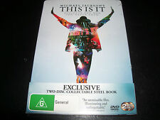 Michael Jackson This Is It Australian Region 4 PAL Steel book 2 DVD - New