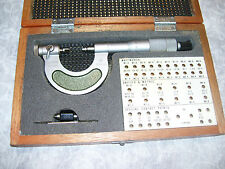 """Micrometer, Mitutoyo 0 - 25mm (.01""""mm) Thread Pitch Micrometer, # 116-101, Tool"""