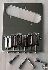 CORDIER CHEVALET TELECASTER GOTOH 6 x Brass Saddles Tele Bridge CHROME GTC201-C