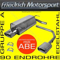FRIEDRICH MOTORSPORT DUPLEX EDELSTAHL AUSPUFF AUDI A4 B6 QUATTRO LIMO+AVANT