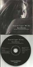 MARIAH CAREY w/ BONE THUGS N HARMONY My all CARD SLEEVE USA PRESSING CD single